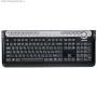 Клавиатура A4TECH  проводная ММ KX-5MU, PS/2 (черный+серый) слим, мультимедийная