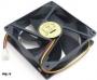 Вентилятор 80 x 80 x 25, 2 pin для корпуса